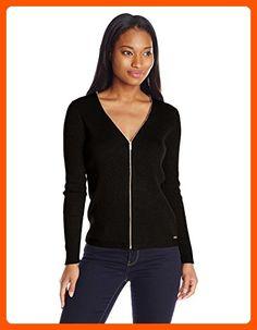 Calvin Klein Women's Ribbed Cardigan, Black, XL - All about women (*Amazon Partner-Link)
