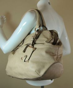 0ac11689fe Jasper Conran beige large leather LOOK!! fashion bag handbag purse R14911 # style #