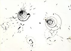 Acorn Twirls, sumi ink on paper