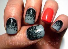 Neon Accent nail art...