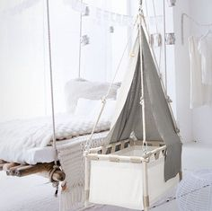 Cradle  hanging baby crib. For day and night. Now for only