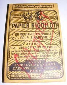 Le cataplasme de moutarde, pour dégager les bronches....disait ma grand-mère...Paul Jean RIGOLLOT
