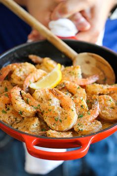 This was really good! I was looking for a quick, simple way to cook up some shrimp and this was it! The sauce is great! I also added a pinch