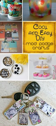 "~~} ""Cool and Easy DIY Mod Podge Crafts. These are so pretty! So much great and useful crafts!"""
