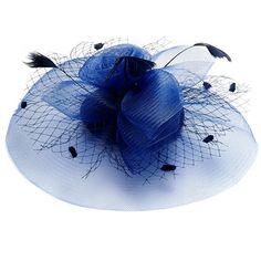 Large Royal Blue Fascinator Hat Michaela - FAS100