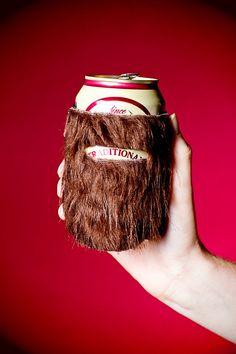 "The ""Beerd"" Can Beard Cozy. $7.00, via Etsy. DUDE!!!"