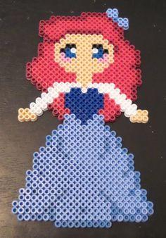 Little Mermaid Inspired Ariel Blue Dress perler beads by BonusLifeJewelry