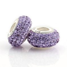 Water Purple Sparkling Crystal Beads