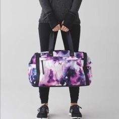 6ff838c19372 Lululemon blooming pixie urban warrior duffle Lululemon blooming pixie  urban warrior duffle. This is a