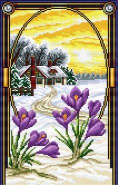 Krokus (Luty) (miesiące, kwiaty, widok)