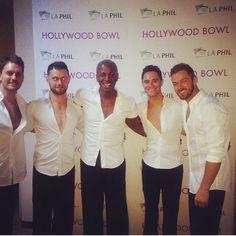 Artem, Henry, Tristan & Sasha with Neil Taffe at Hollywood Bowl 8-9 Aug 2014 (pic credit: @neiltaffe via Instagram)