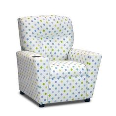 1300-1-BGC Features: -Mixed hardwood frame; generously padded with polyester fiber fill and densified fibers for comfort and safety. -This chair is then upholstered in one of our new 100% brushed polyester fabrics featuring a white background with an all-over pattern of small polka dots in... more details available at https://furniture.bestselleroutlets.com/children-furniture/chairs-seats/recliners/product-review-for-kidzworld-home-indoor-children-bubble-gum-capri-kids-reclin