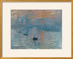 Impression: Sunrise, 1872 Giclee Print by Claude Monet at Art.com