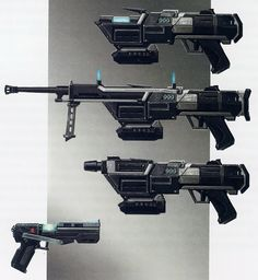 Republic Commando DC-17 adjustable blaster and standard side arm