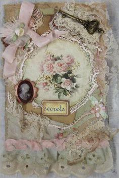 Shabby Chic Roses, OOAK OOAK Handmade Lace Notebook Dairy Book Memories ELITE4U   http://www.ebay.com/sch/merchant/khatsart47