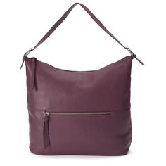 R&R Leather Hobo ($149) ❤ liked on Polyvore featuring bags, handbags, shoulder bags, purple, man leather shoulder bag, leather hobo shoulder bag, leather man bags, hobo handbags and hobo shoulder bags