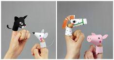 Divertidos títeres de papel para hacer con los niños