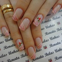Simple Nail Art Designs, Nail Designs Spring, Easy Nail Art, Merry Christmas Gif, Flower Nails, Nagel Gel, Stylish Nails, Pedicure, Nail Colors
