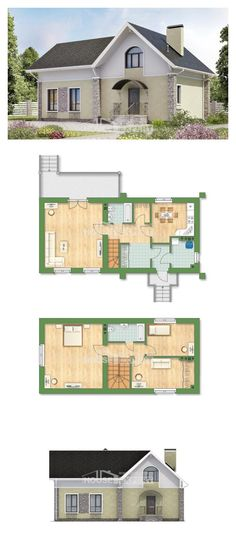 Two Story House Plans with mansard, small Ranch, House Expert Dream House Plans, House Floor Plans, My Dream Home, Unusual Homes, Cottage Style Homes, Diy House Projects, House Layouts, Apartment Design, Building Design