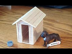 How To Make A Schleich Dog House / Kennel. Been needing to make this for my little brother's toy dog.