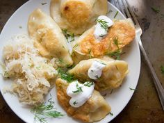 Tender pockets of dough are stuffed with a mix of hearty mashed potatoes and sweet caramelized onions, then pan-fried until golden to make these comforting vegan pierogies.