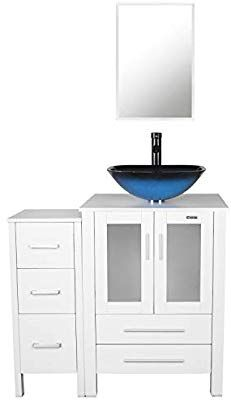 Excellent Eclife 36 Bathroom Vanity Sink Combo White W Side Cabinet Home Interior And Landscaping Ologienasavecom