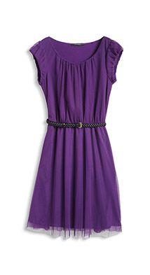 mesh dress with braided belt