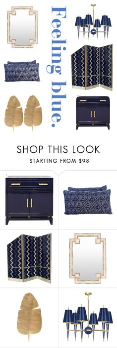 """Feeling Blue"" by matthewsfav on Polyvore featuring interior, interiors, interior design, home, home decor, interior decorating and Surya"