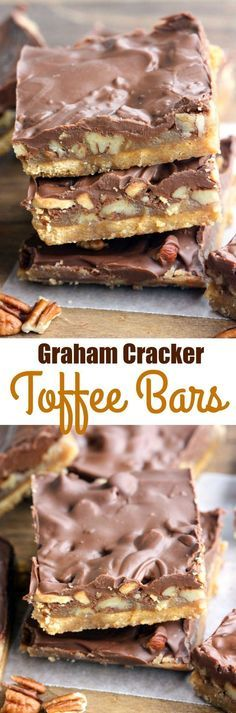 Graham Cracker Toffee Bars - only 5 ingredients to make the tastiest, easiest toffee bars! Perfect for an easy holiday treat. | on myrecipemagic.com