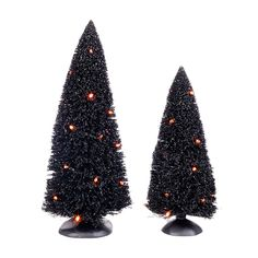 The Jolly Christmas Shop - Department 56 Halloween Village Lit Sisal Trees Set of 2 Accessories 4038917, $40.00 (http://www.thejollychristmasshop.com/department-56-halloween-village-lit-sisal-trees-set-of-2-accessories-4038917/)