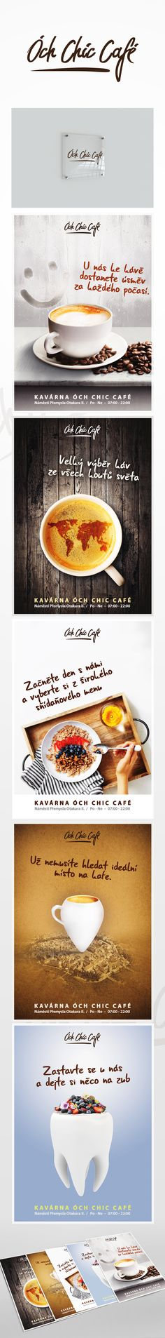 "Podívejte se na můj projekt @Behance:  ""Óch Chic Cafe - Logo + mini campaign"" https://www.behance.net/gallery/59262233/Och-Chic-Cafe-Logo-mini-campaign"