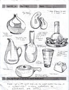 RISD History of Industrial Design lecture notes Drawing Skills, Drawing Techniques, Drawing Sketches, Sketching, Sketch Inspiration, Design Inspiration, Logos Retro, Industrial Design Sketch, Hand Sketch