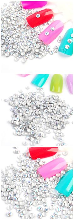 $5.59 300Pcs/Bag Creative Metallic Stud Colorful Mini Round UV Gel Nail Art Decoration - BornPrettyStore.com