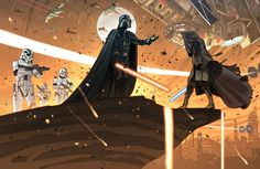 Darth Vader vs ... - #StarWars Star Wars #StarWarsFan The Art of Star Wars © Yann Tisseron °°