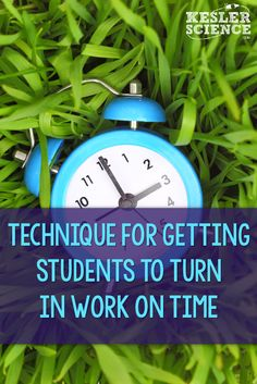 Use this trick to get students to turn their work in on time! Biology Lessons, Science Lessons, Life Science, Science Fair, Student Teaching, Teaching Science, Teaching Strategies, Teaching Ideas, Teaching Tools