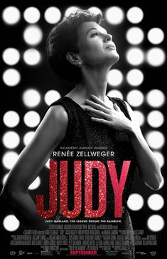 Judy in US theaters September 2019 starring Renee Zellweger, Jessie Buckley, Finn Wittrock, Michael Gambon. Winter 1968 and showbiz legend Judy Garland arrives in Swinging London to perform a five-week sold-out run at The Talk of the Town. Finn Wittrock, Michael Gambon, Bridget Jones, Rufus Sewell, George Mackay, Renee Zellweger, Christopher Plummer, Mark Strong, Anthony Hopkins
