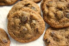 Chewy molasses chocolate chip cookies made rich, delicious and extra flavourful with molasses. The texture is characteristic of a good brown sugar cookie.