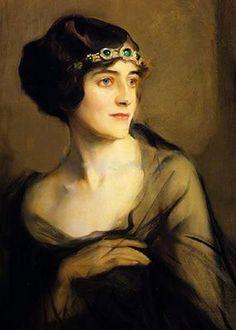 Comtesse Louis Rene de Gramont, nee Antoinette Rochechouart -Mortemart (1893-1972), by Philip Alexius de László (Hungarian-British, 1869-1937).