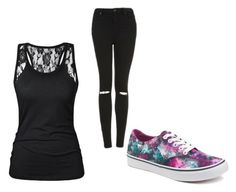 """""""Untitled #84"""" by tia12502 on Polyvore featuring Vans and Topshop"""