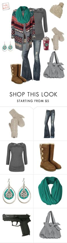 """""""It's cold outside..."""" by chellebelle28 ❤ liked on Polyvore featuring The North Face, True Religion, maurices, Ichi and UGG Australia"""