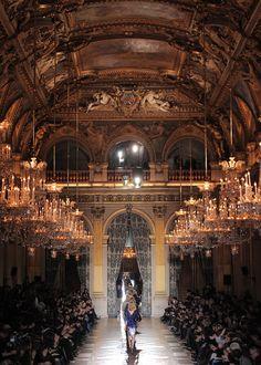 Dries Van Noten F/W 2010 at the Salle de Fetes in Paris' historic City Hall