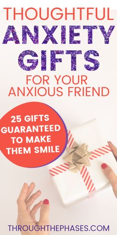 This post is full of gift ideas for someone who suffers from anxiety. These thoughtful anxiety gifts can be purchased alone or combined into a gift basket to make for the perfect present, no matter the occasion! This is the ultimate gift guide for anxiety sufferers! - mental health tips #anxietygifts #giftguide #anxietytips #mentalhealthtips Anxiety Tips, Stress And Anxiety, Meditation Apps, Mental Health Disorders, Ways To Relax, Gift Basket, Stress Relief, Thoughtful Gifts
