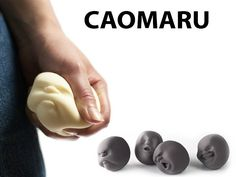 Designed by Makiko Yoshida, Caomaru are stress balls let you relieve tension while expressing emotion in the balls themselves. Featuring four different facial e