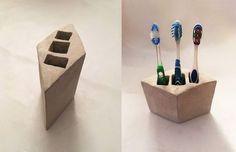 cement toothbrush holder, bathroom ideas, concrete masonry, crafts, how to, organizing, small bathroom ideas