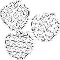 Color Me 6 Designer Cut Outs Apples