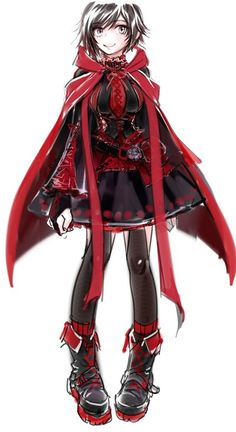 Ruby's costume is so detailed. She is currently sporting the Hot Topic fashion collection