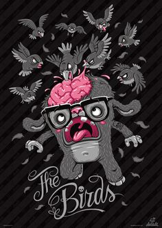 Illustration. Characters / T-Shirt Designs by Andreas Krapf, via Behance