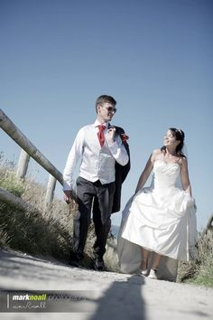 Cleo and Kevin, Bride and Groom photo-shoot at the beach. St Ives Cornwall. Mark Noall photography