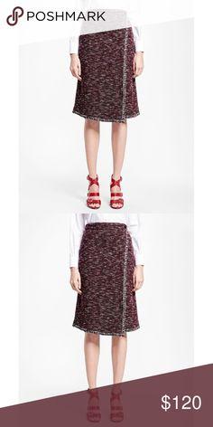 be9e9e94f6082 Brooks Brothers Purple Blanket-stitch Tweed Skirt Brooks Brothers Women s  Purple Blanket-stitch Tweed
