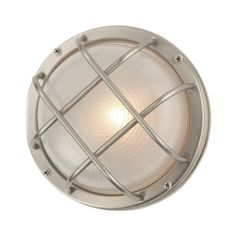 Stainless Steel Marine Wall Light - 8-Inches Wide Product #: 414632 by Design Classics Lighting $43